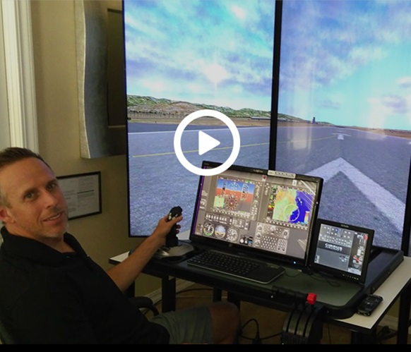 Jason Van Clef Practiced 100 times landing in one week on a touch trainer simulator