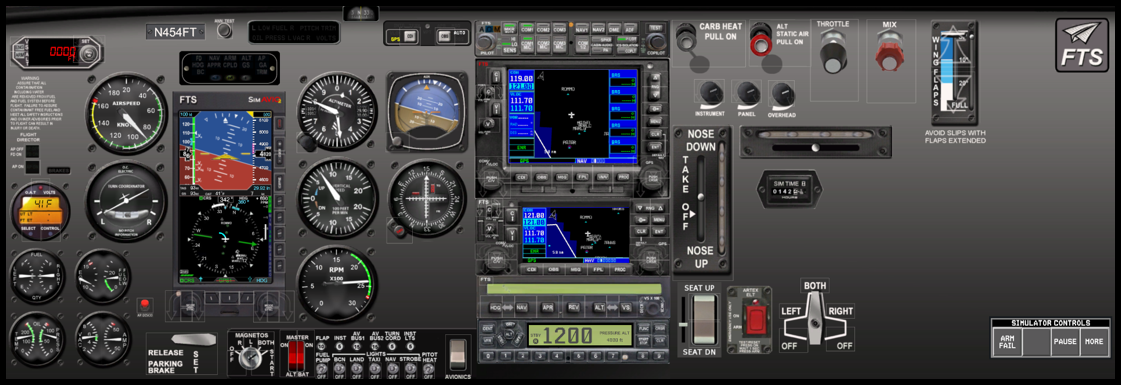 FAA Approved BATD TouchTrainer VX Fixed Wing-Afforable and